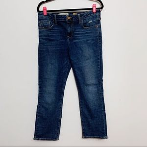 Anthro Pilcro and the Letterpress Cropped Jeans